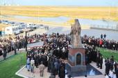 Предстоятель Русской Православной Церкви освятил памятник святителю Иннокентию (Вениаминову) в Якутске