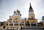 Предстоятель Русской Церкви совершил Божественную литургию в Спасо-Преображенском соборе Якутска