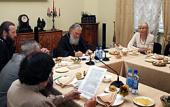 В Издательском Совете прошла встреча с писателями на тему «Границы искусства и религиозное искусство»