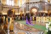 Патриаршее служение в Храме Христа Спасителя в праздник Собора Московских святых