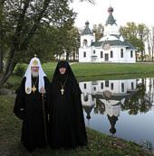 Святейший Патриарх Кирилл посетил монастырь в честь Державной иконы Божией Матери в поселке Изобильное Полесского района Калининградской области
