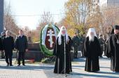 Святейший Патриарх Кирилл посетил в городе Орехово-Зуево памятник павшим в Великой Отечественной войне