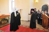 Предстоятель Русской Церкви посетил строящийся храм Новомучеников Орехово-Зуевских