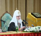 Святейший Патриарх Кирилл: Революций на пути дальнейшего укрепления единства Русской Церкви в Отечестве и за рубежом не предвидится