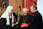 Святейший Патриарх Кирилл встретился с участниками российско-итальянской конференции по этическим аспектам банковской деятельности