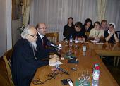 В рамках фестиваля «Вера и слово» состоялась встреча председателя Синодального отдела по церковной благотворительности с членами «Клуба православных журналистов»