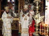 На Афоне отметили 95-летие игумена Русского монастыря архимандрита Иеремии (Алехина)