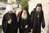 Председатель Отдела внешних церковных связей прибыл в Русский на Афоне Свято-Пантелеимонов монастырь