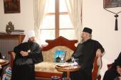 Митрополит Волоколамский Иларион встретился с Протом Святой Горы Афон
