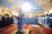 Патриаршее служение в домовом храме Московской духовной академии в праздник Покрова Божией Матери