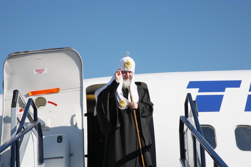 Патриарший визит в Калининградскую епархию. Проводы в аэропорту Калининграда