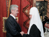 Предстоятель Русской Церкви встретился с мэром Москвы С.С. Собяниным