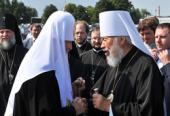Предстоятель Русской Церкви примет участие в праздновании 75-летия Блаженнейшего митрополита Киевского и всея Украины Владимира