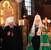 Слово Святейшего Патриарха Кирилла после Божественной литургии в день 75-летия Блаженнейшего митрополита Киевского Владимира