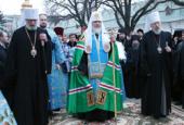 Предстоятель Русской Православной Церкви совершил в Киево-Печерской лавре молебен перед чудотворной Серафимо-Дивеевской иконой Божией Матери