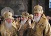 Патриарший визит на Украину. Божественная литургия в Киево-Печерской лавре в день 75-летия Блаженнейшего митрополита Владимира