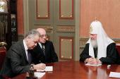 Состоялась встреча Святейшего Патриарха Кирилла с послом Турции в России Айдыном Сезгином