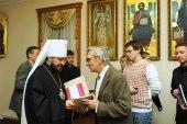 В беседе с журналистами митрополит Волоколамский Иларион рассказал об итогах деятельности Отдела внешних церковных связей в 2010 году