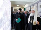 Святейший Патриарх Кирилл возглавил церемонию открытия выставки «Соловки. Голгофа и воскресение» в Храме Христа Спасителя