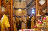 Святейший Патриарх Кирилл совершил чин великого освящения храма Преображения Господня в Звездном городке