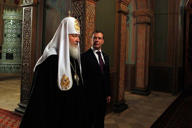 Встреча Святейшего Патриарха Кирилла с Президентом России Д.А. Медведевым