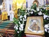 В день памяти святителя Филарета, митрополита Московского, Святейший Патриарх Кирилл совершил Божественную литургию в Храме Христа Спасителя