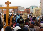 Освящен крест на месте строительства Введенского собора в столичном районе Южное Бутово