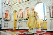 В день памяти святого благоверного князя Александра Невского Святейший Патриарх Кирилл совершил Божественную литургию в Войсковом Александро-Невском соборе г. Краснодара