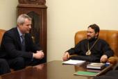 Митрополит Волоколамский Иларион встретился с послом Чехии в России
