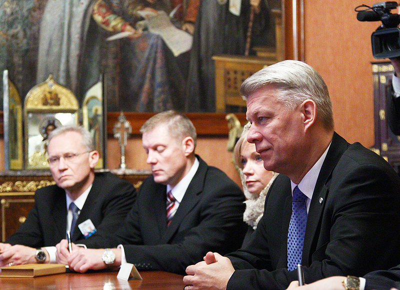 Встреча Святейшего Патриарха Кирилла с Президентом Латвийской Республики В. Затлерсом