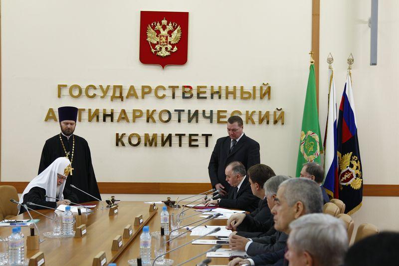 Подписание Соглашения о взаимодействии между Государственным антинаркотическим комитетом и Русской Православной Церковью