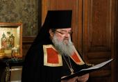 Слово архимандрита Никодима (Вулпе) при наречении во епископа Единецкого и Бричанского