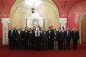 Святейший Патриарх Кирилл встретился с руководителями и главными редакторами российских СМИ