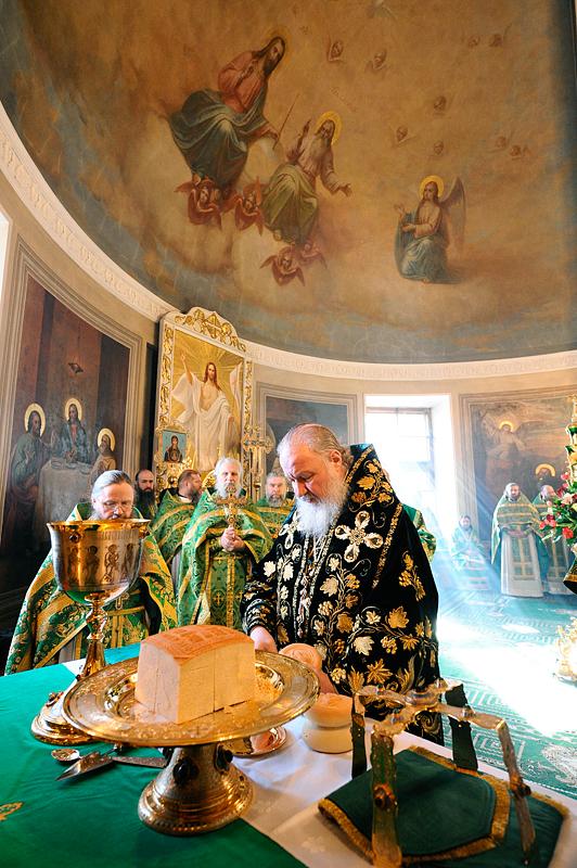 Патриаршее служение в Свято-Даниловом монастыре
