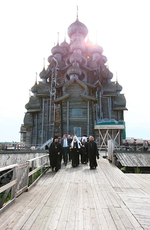 Посещение музея-заповедника «Кижи» (Карельская епархия)