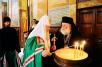 Первосвятительский визит в Александрийский Патриархат. Перед входом в Благовещенский собор Александрии