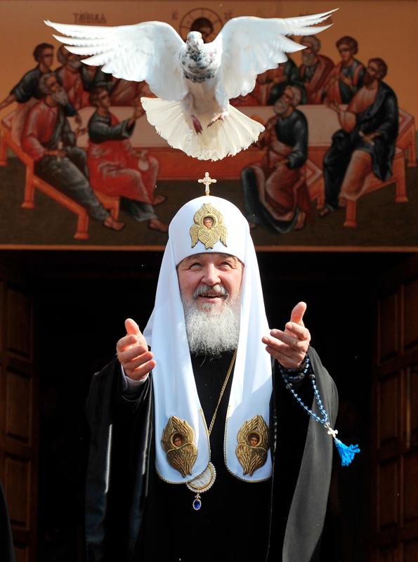 После молебна в Донском монастыре