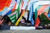 Церемония открытия Дней славянской письменности и культуры на Васильевском спуске