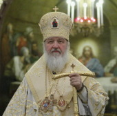 Предстоятель Русской Церкви совершил в Храме Христа Спасителя молебное пение на новолетие