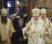 В день памяти святителя Петра, митрополита Московского, Святейший Патриарх Кирилл совершил Божественную литургию в Успенском соборе Кремля