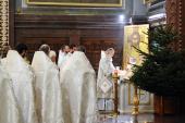 В Рождественский сочельник Святейший Патриарх Кирилл совершил Божественную литургию в Храме Христа Спасителя