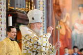 В праздник Рождества Христова Предстоятель Русской Православной Церкви совершил Божественную литургию в Храме Христа Спасителя