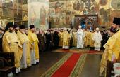 В день Собора Пресвятой Богородицы Предстоятель Русской Церкви совершил Божественную литургию в Успенском соборе Московского Кремля