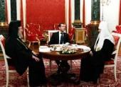 Предстоятели Русской и Кипрской Православных Церквей встретились с Президентом России Д.А. Медведевым