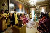 Предстоятель Русской Церкви возглавил чин наречения архимандрита Тихона (Доровских) во епископа Южно-Сахалинского и Курильского