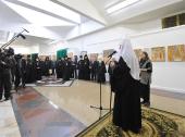 Предстоятель Русской Церкви открыл в Храме Христа Спасителя выставку «Свет фресок Дионисия»