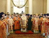 В день памяти святой мученицы Татианы Предстоятель Русской Церкви совершил Божественную литургию в домовом храме МГУ