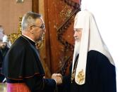 Святейший Патриарх Кирилл принял Апостольского нунция в Российской Федерации архиепископа Антонио Меннини