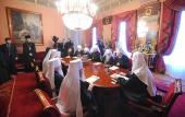 Под председательством Святейшего Патриарха Кирилла проходит первое в 2011 году заседание Священного Синода Русской Православной Церкви