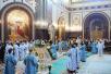 Патриаршее служение в Храме Христа Спасителя в праздник Сретения Господня